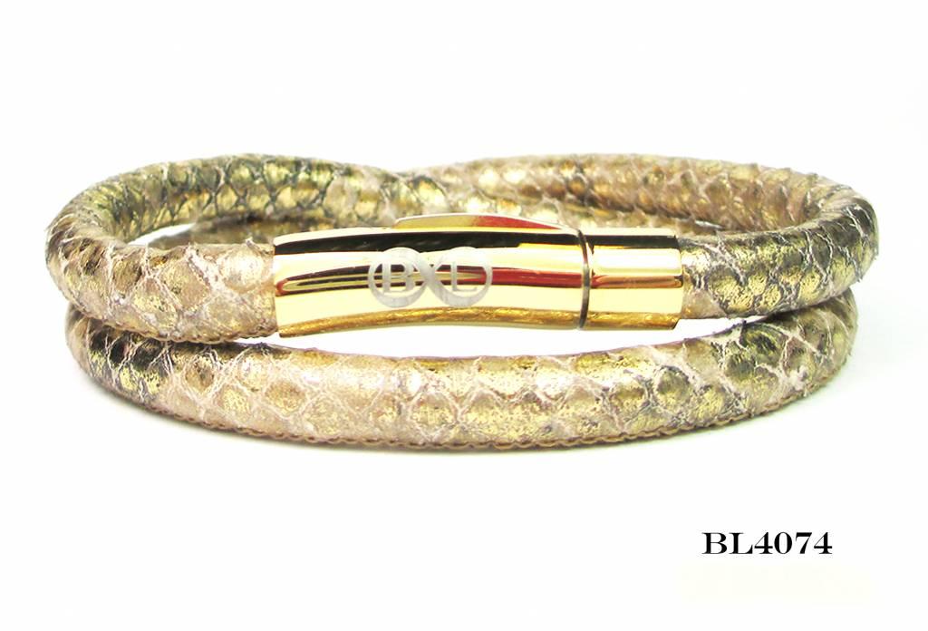 B & L Lederen wikkel armband 4074