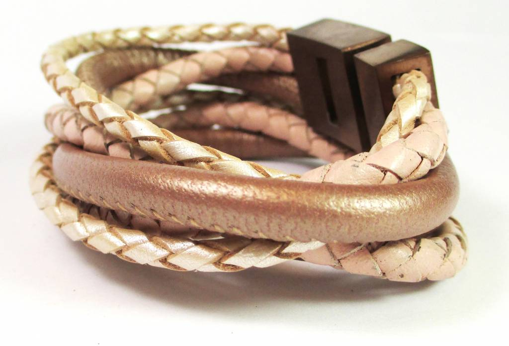 B & L Lederen wikkel armband 2048