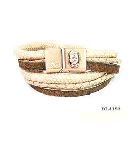 B & L Lederen Wikkel Armband BL 4180