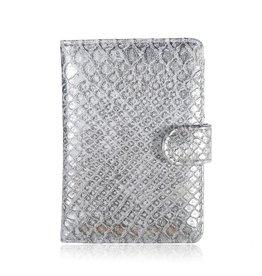 Paspoort Case Croco Zilver/Grijs