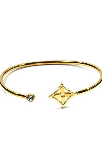 """Open bangle armband """"Luxery"""" Edelstaal Gold Plated"""