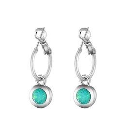 Oorbellen Creolen Chic Sparkle Zilver met Turquoise steen