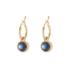 Oorbellen Posh Sparkle - Blue - Gold Plated