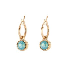 Oorbellen Posh Sparkle - Turquoise - Gold Plated