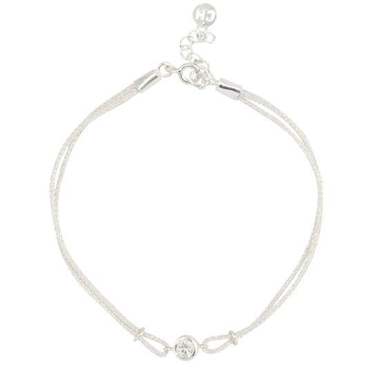 Charmin's Armband Helder Zilver met Japans zijde
