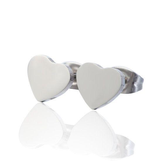 Oorknopjes Stainless Steel Heart