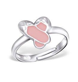 PJ Verstelbare Ring  Balletschoentjes - 925 Sterling Zilver