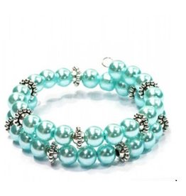 Wire Armband Soft Turquoise