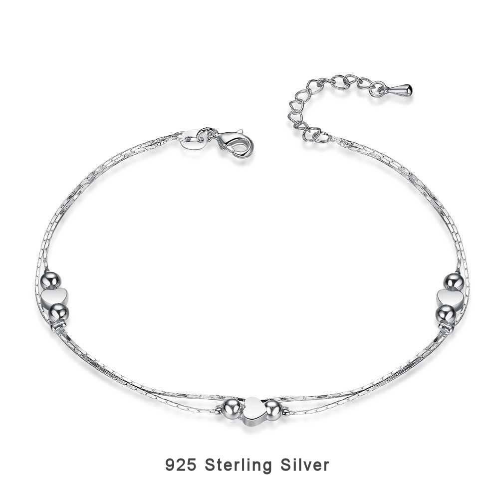 Enkelbandje 925 Sterling Zilver - Silver Hart
