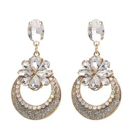 Oorbellen  Sparkling Diamonds -  White
