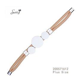 Sweet 7 Armband  Circle Brown - Plus Size