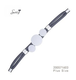 Sweet 7 Armband  Circle Blue - Plus Size