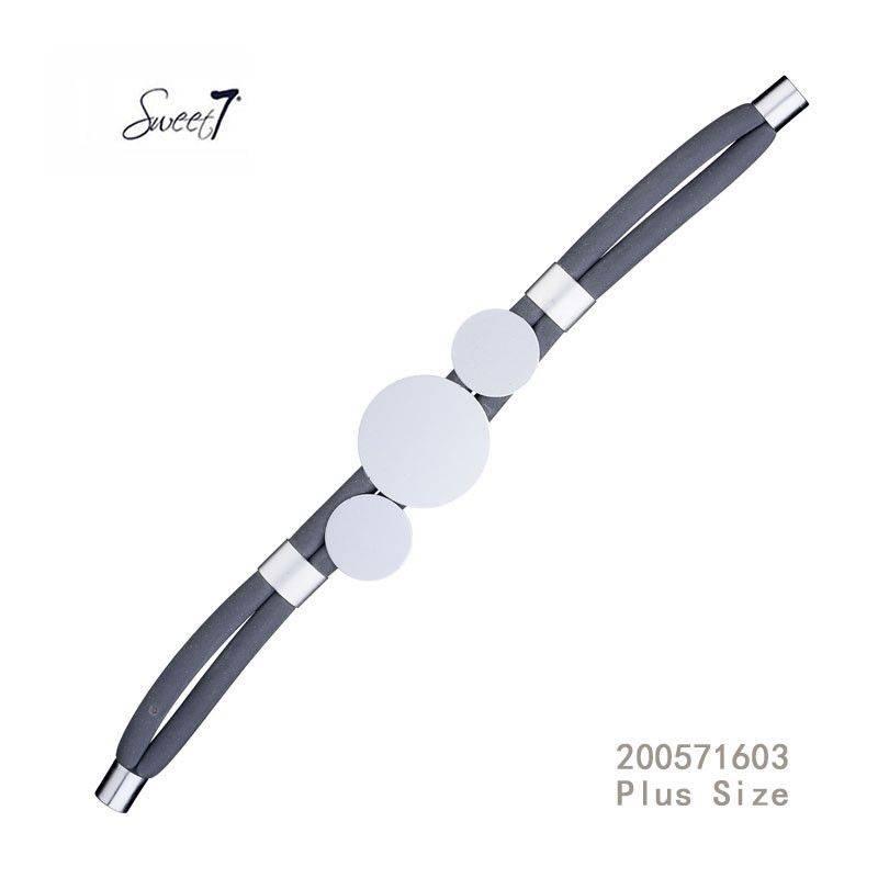 Sweet 7 Armband  Circle Blue - Plus Size