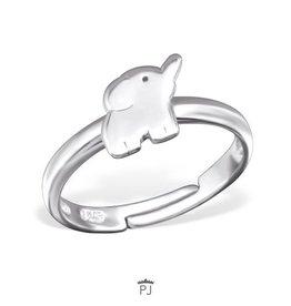 PJ Verstelbare Ring  Olifant - 925 Sterling Zilver