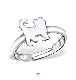 PJ Verstelbare Ring  Kittie Kat - 925 Sterling Zilver