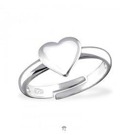 PJ Verstelbare ring  Mijn Hart - 925 Sterling Zilver