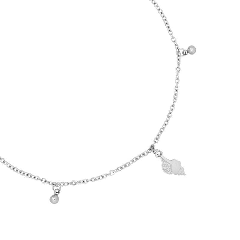 Enkelbandje Ocean Shell - Silver