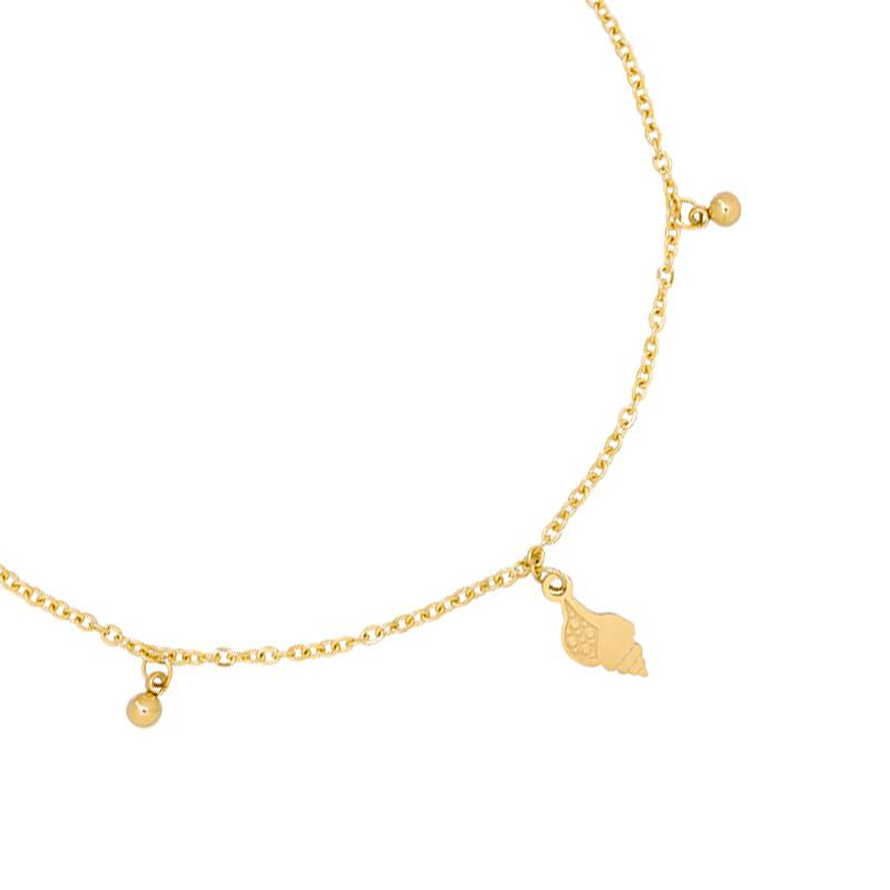 Enkelbandje Ocean Shell - Gold