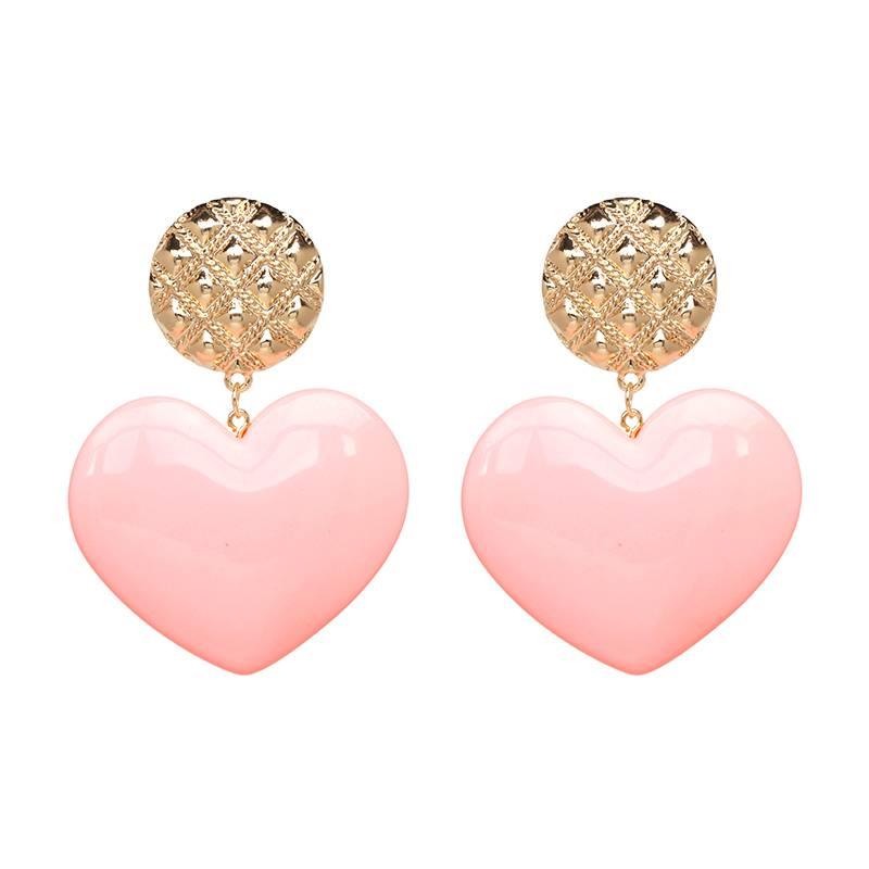 Oorbellen  Big Love Pink-Gold
