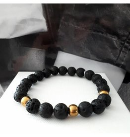 Sazou Jewels Armband Natural Stones Lava SZ 833