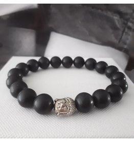 Sazou Jewels Armband Natural Stones ONYX - 10 mm