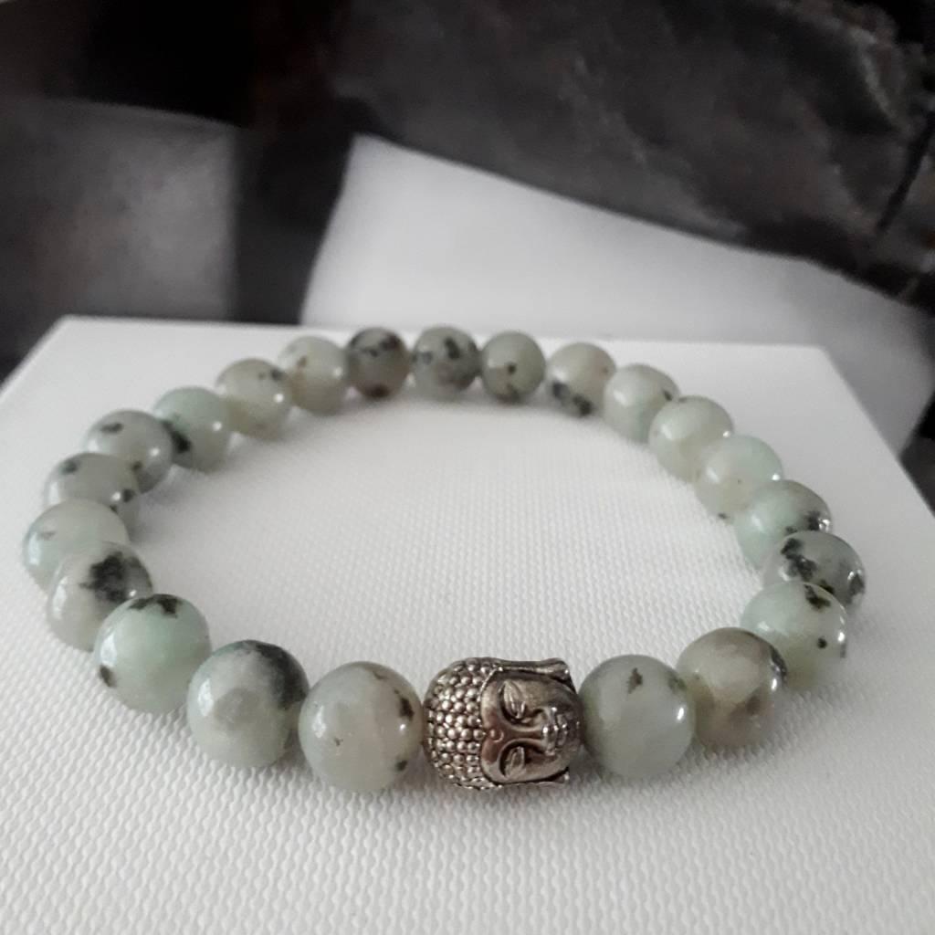 Sazou Jewels Armband Natural Stones - Tianshan Kristal Graniet - 8 mm