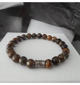 Sazou Jewels Armband Natural Stones TIJGEROOG- 8mm