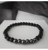 Sazou Jewels Armband Natural Stones Onyx / Hematiet