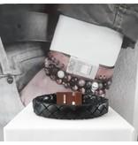 B & L Lederen armband Gevlochten zwart 43531