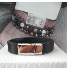 B & L Lederen Armband Black   BL 99820