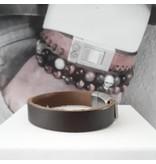 B & L Lederen Armband Brown   BL 99822