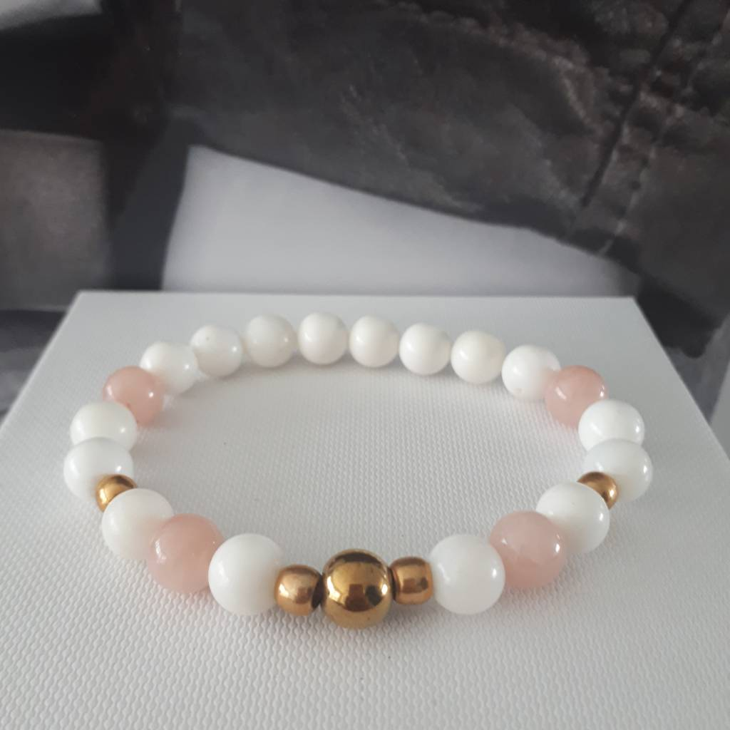 Sazou Jewels Armband Natural Stones Agaat  SZ8413