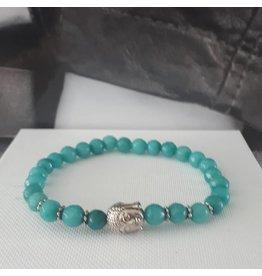 Sazou Jewels Armband Natural Stones -Chalcedoon - 6 mm