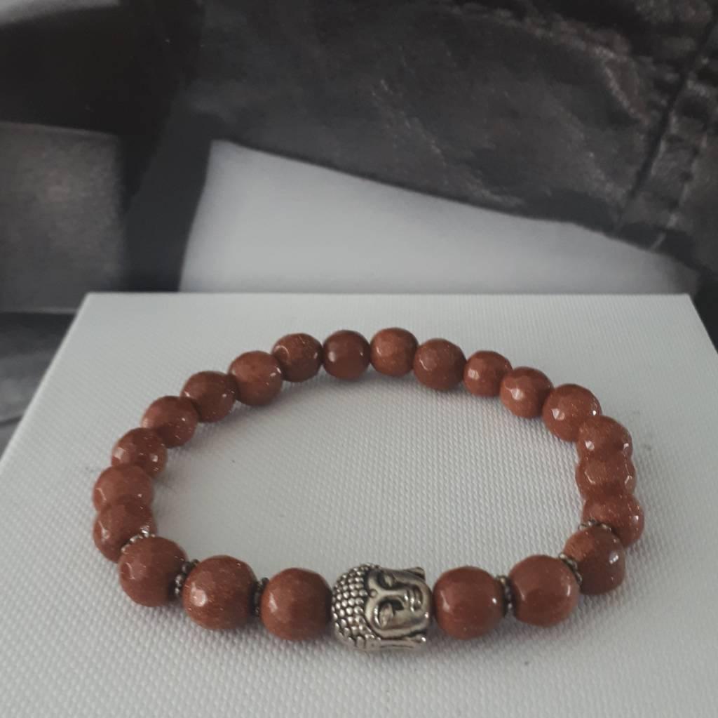 Armband Natural Stones - Goudvloed - 7mm