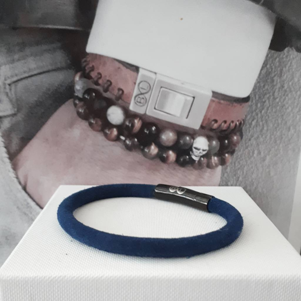 B & L Lederen armband Blue BL99830