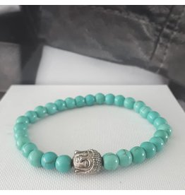 Armband Natural Stones - Turquose - 8 mm