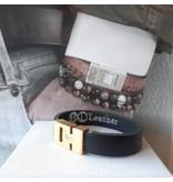 B & L Lederen armband zwart BL 99840
