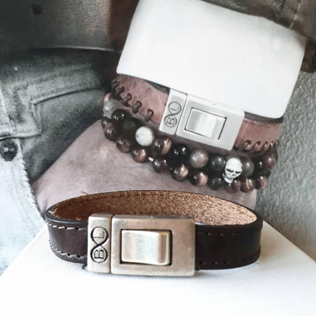 B & L Lederen armband Bruin BL 99842