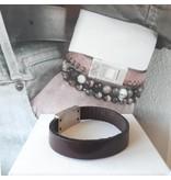 B & L Lederen armband Bruin BL 99843