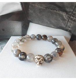 Sazou Jewels Armband Natural Stones Labradoriet - 8420
