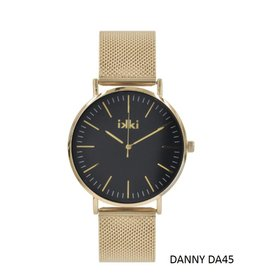 IKKI Horloge DANNY, DA45, 40mm, Black Gold