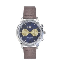 IKKI Horloge Marlon, MO08, 42mm, Brown-Blue