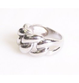 Fashion Jewelry Ring Braided Stainless Steel (RVS)