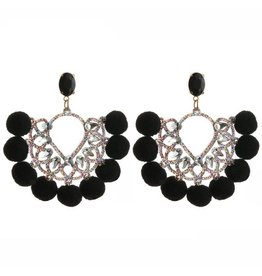 Oorbellen  Pearls & Pumpkins - Black
