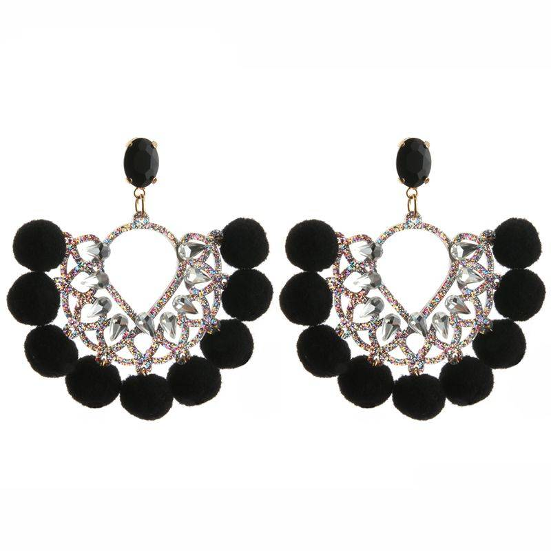 Oorbellen  Pearls & Pumpkins - Black