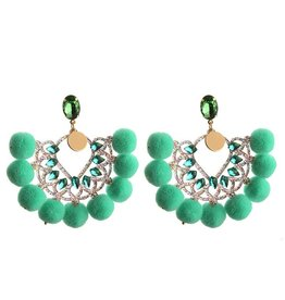 Oorbellen  Pearls & Pumpkins - Light Green