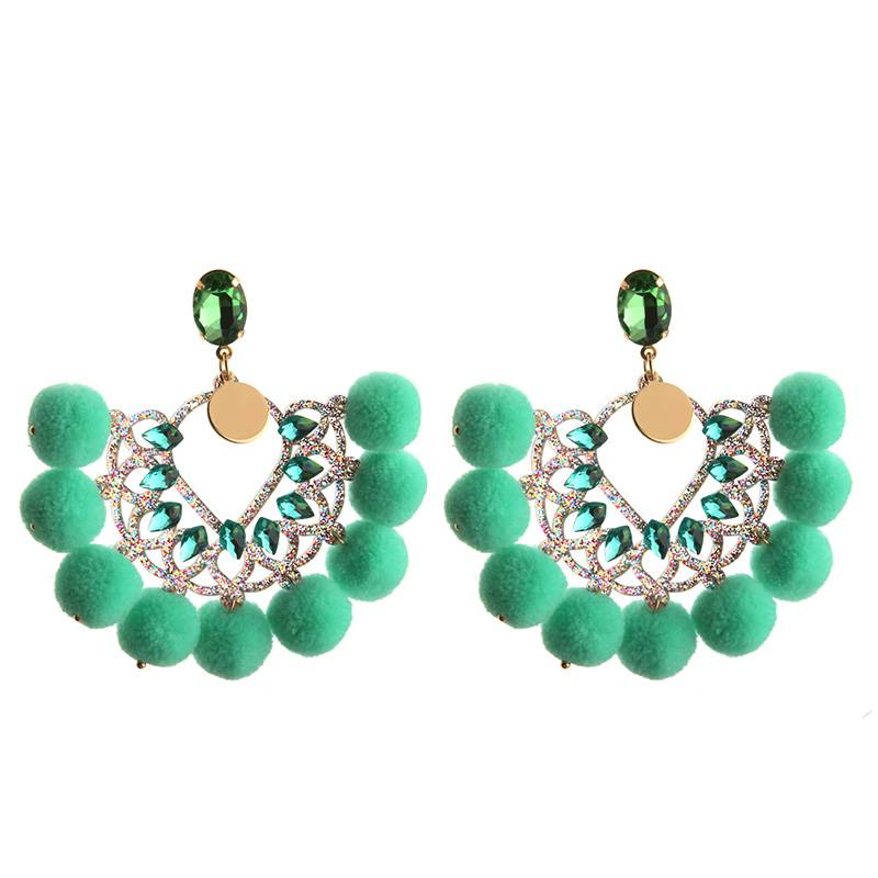Oorbellen  Pearls & Pumpkins - Light Green