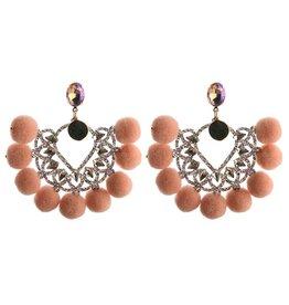 Oorbellen  Pearls & Pumpkins - Apricot