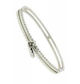 Edelstalen Armband Zipper Zilver