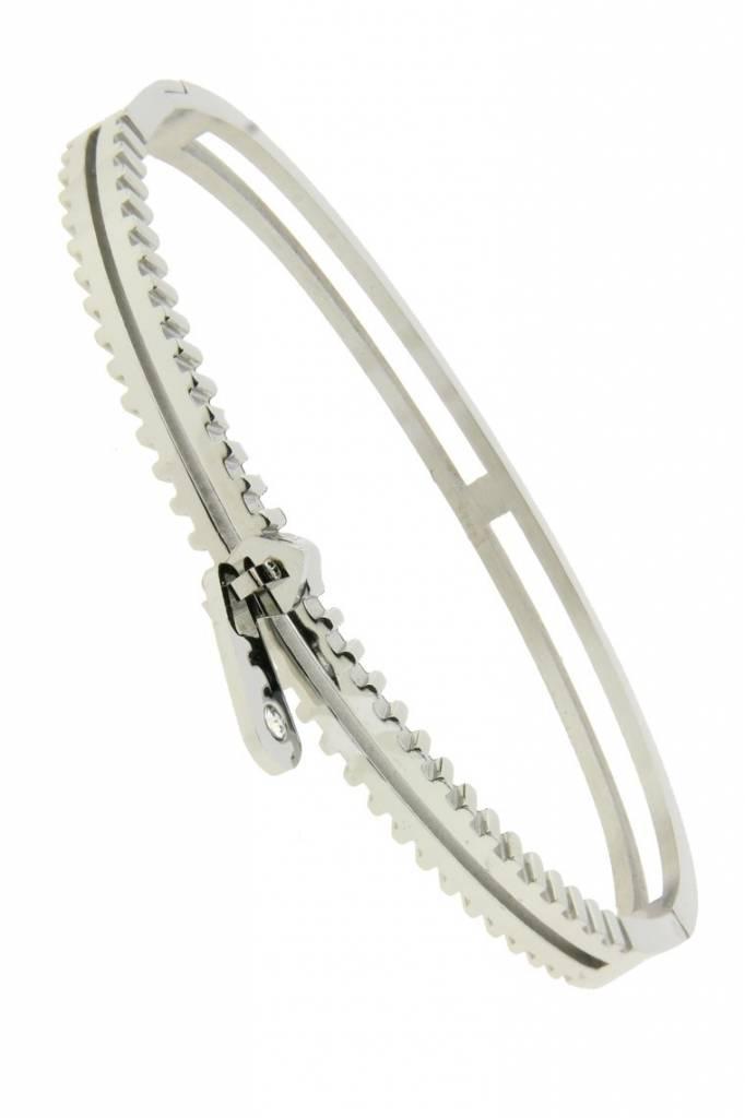RVS Armband Zipper Zilver